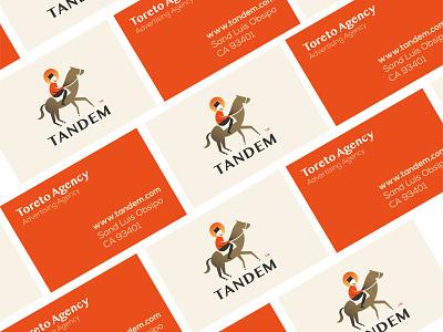 Tandem - logo design design logo logodesigner tandem sunset logodesign illustration horse identity buisness card branding