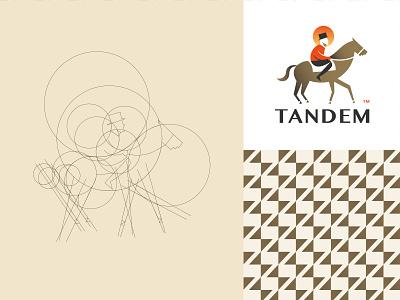 Tandem - logo design construction pattern design tandem sunset logo logodesign illustration identity horse branding