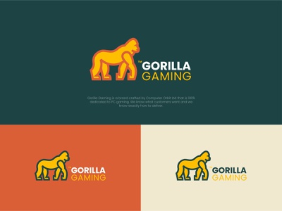 Gorilla Gaming - Logo Design gorilla logo gaming gorilla logodesigner logodesign logo illustration identity design branding