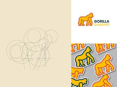 Gorilla Gaming - Logo Design gorilla logo buisness card gaming gorilla logo logodesign illustration design identity branding