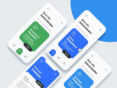 PCA Survey flat uxdesign app uidesign interaction design