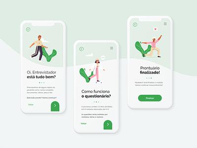 PCA Survey flat uxdesign uidesign interaction design app