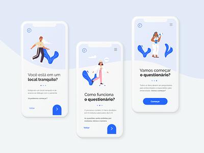 PCA Survey flat uidesign interaction design app