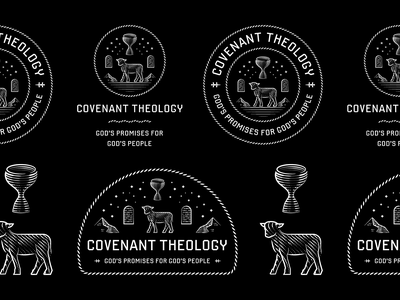 Covenant Theology 2020 etching graphic design line art illustrator peter voth design engraving logo vector badge illustration