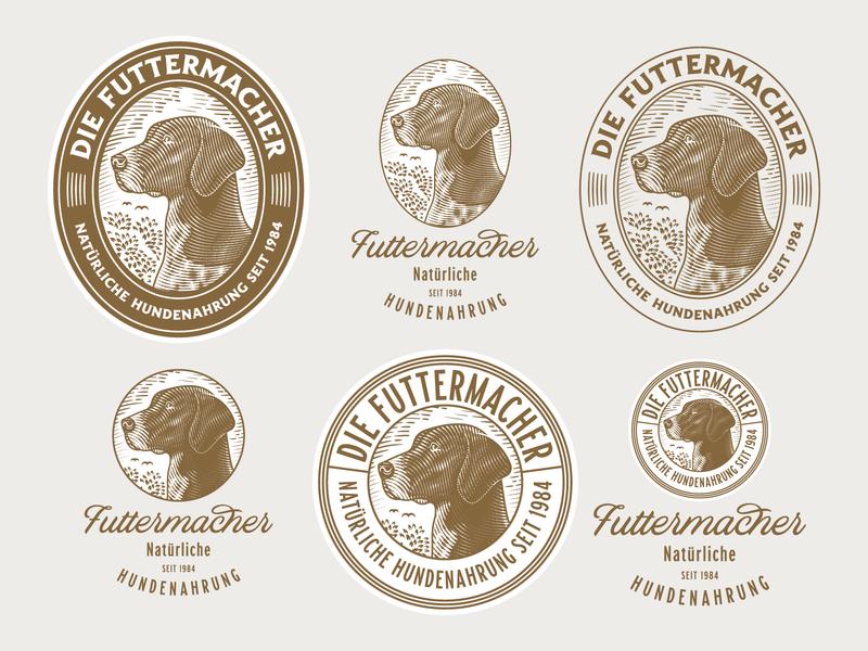 Die Futtermacher woodcut etching graphic design line art illustrator peter voth design engraving logo badge vector illustration