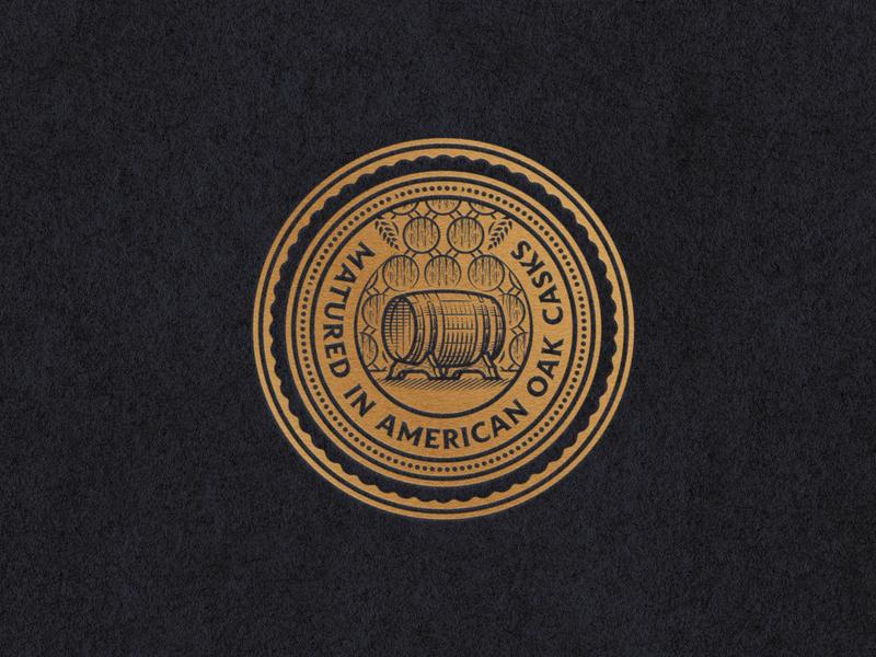 American Oak Casks scratchboard woodcut graphic design line art illustrator etching peter voth design engraving logo badge vector illustration