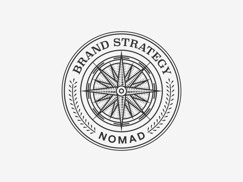 NOMAD Badges graphic design line art illustrator etching engraving logo badge vector peter voth design illustration