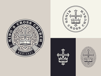 King's Cross Church responsive design responsive branding branding graphic design line art illustrator etching icon engraving logo badge illustration peter voth design