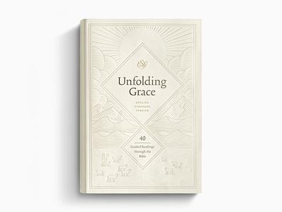 ESV Unfolding Grace bible graphic design etching line art illustrator engraving vector illustration peter voth design