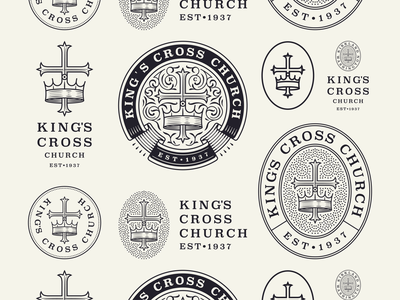 Kings Cross Church pt. II graphicdesign line art illustrator etching icon engraving logo badge vector illustration peter voth design