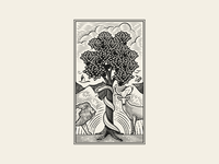 1 • God's Creation and Humanity's Fall bible design bible graphic design line art etching engraving illustrator illustration peter voth design