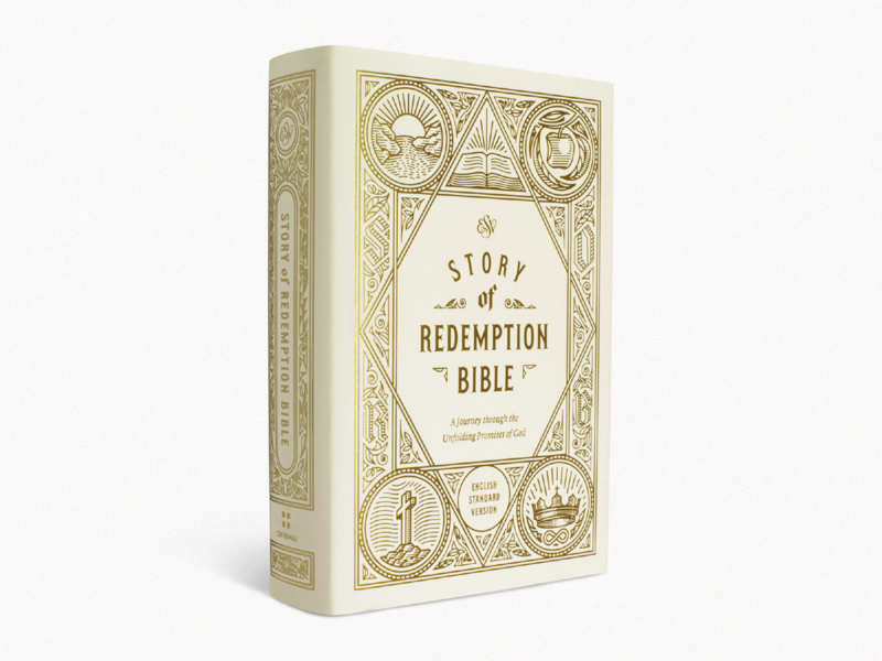 ESV Story of Redemption Bible (2 Years) bible design bible design graphic design line art etching engraving illustrator illustration peter voth design