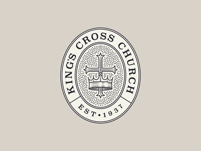 King's Cross Church pt. III branding graphic design line art illustrator icon etching engraving logo illustration peter voth design