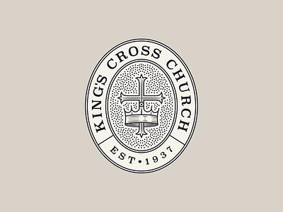 King's Cross Church pt. III branding graphic design line art illustrator icon etching engraving logo illustration peter voth design