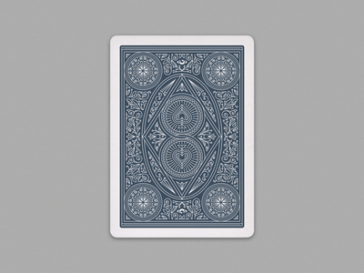 Kevin Blake Back Design vector illustraion graphicdesign lineart playing cards illustration peter voth design