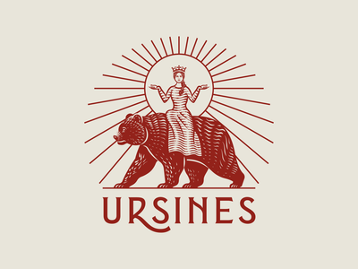 Ursines pt. II vintage graphic design line art illustrator etching engraving logo badge illustration peter voth design