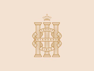 Legacy Standard Bible line art vector badge branding icon illustrator graphic design illustration bible logo peter voth design