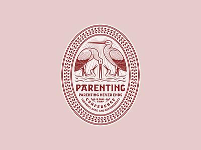 Paul Tripp Conference • Parenting branding graphic design line art illustrator etching engraving logo badge illustration peter voth design