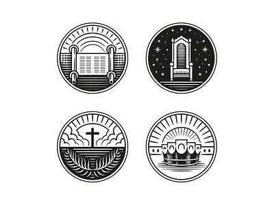 ESV Unfolding Grace (Part Opener Illustrations) pt. II bible graphic design line art illustrator etching engraving logo badge illustration peter voth design