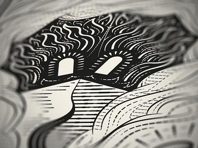 10 • God's Covenant with Israel bible graphic design line art illustrator etching engraving vector badge illustration peter voth design