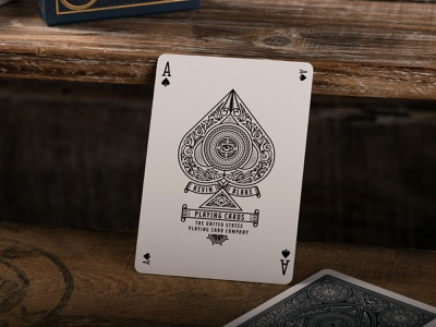 The Illusionist Deck (Ace of Spades) graphic design ace of spades playing card playing cards line art illustrator etching engraving badge vector illustration peter voth design