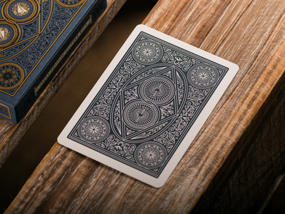 The Illusionist Deck (Back Design) playing card design playing card playing cards graphic design line art illustrator etching engraving badge illustration peter voth design
