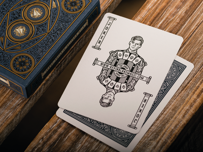 The Illusionist Deck (Joker) joker card design playing card design playing cards graphic design line art icon illustrator etching engraving logo vector illustration peter voth design