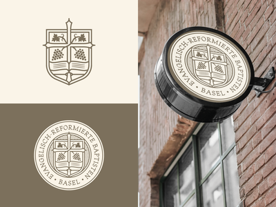 ERB Basel responsive branding branding design etching engraving logo badge vector illustration peter voth design