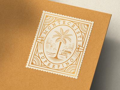 Montecristi Superfino (Optimo Hats) montecristi hat stamp design etching engraving logo badge vector illustration peter voth design