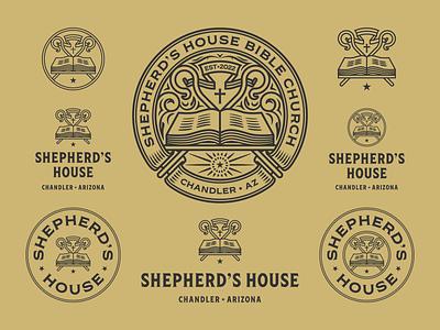 Shepherd's House responsive church bible branding design etching engraving logo vector badge peter voth design illustration