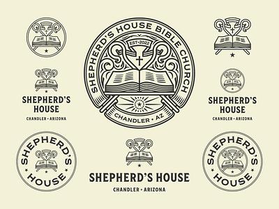Shepherd's House pt. II branding design logo etching engraving badge vector illustration peter voth design