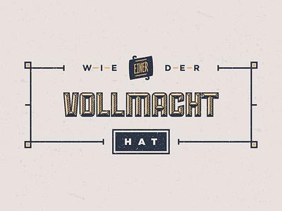 Vollmacht (Article Badge) badge vintage sullivan gotham nexa vector