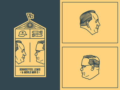 Dietrich, Jack & World War II (WIP II) war blitz ray bomb helmet ww2 vector line icon vintage logo badge