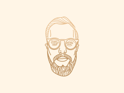 Self-portrait illustration selfportrait vector lines face icon