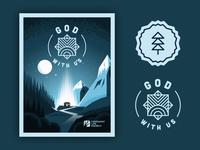 God With Us (Illustration & Badges)