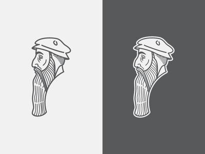 John Knox 2  lines illustrator illustration face vector