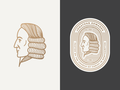 Jonathan Edwards patch badge illustration icon vector face