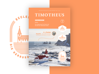 Timotheus Magazin #26 (Final Cover) magazine cover patch illustration badge print cover magazine editorial design