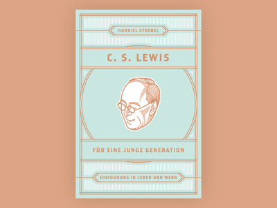 C. S. Lewis (Book Cover) vintage vector illustration book cover