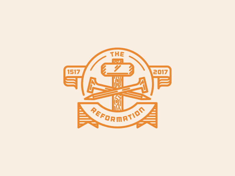 The Reformation badge illustration vector