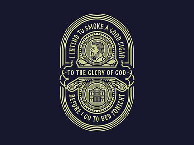 Spurgeon's Cigar (Dark) illustration vector badge