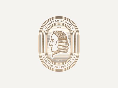 Jonathan Edwards Badge II vector face illustration patch badge