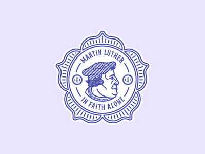 Martin Luther (Badge) face badge illustration vector