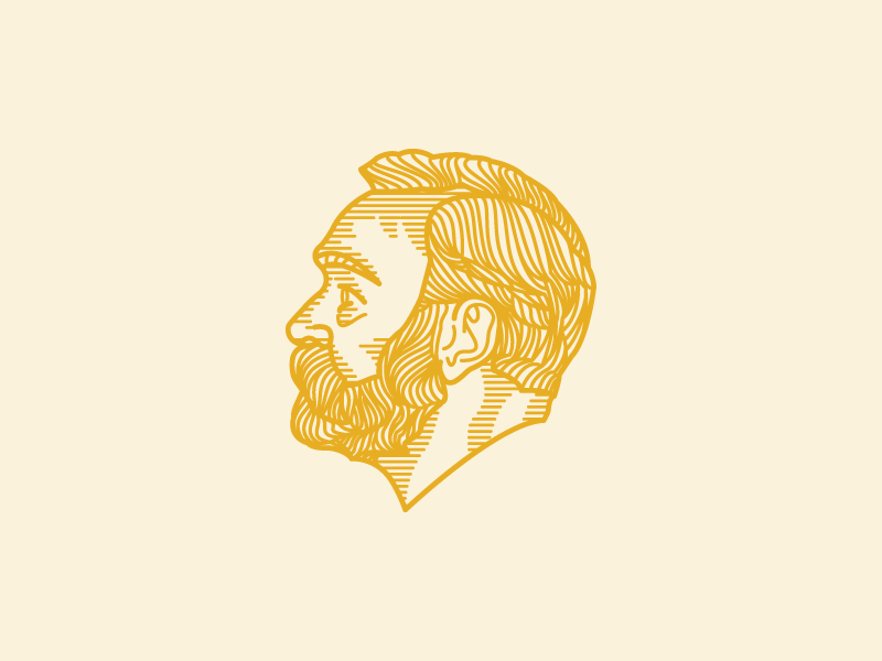 Alfred Nobel icon illustration
