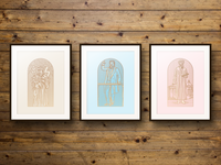 Woodcut Engraving Prints