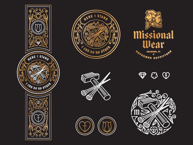 Luther Seal (Exploration) responsive branding illustration badge seal