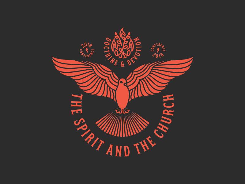 The Spirit And The Church (Badge) illustration logo badge