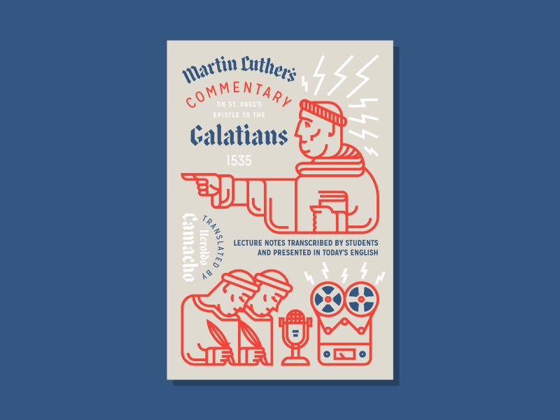 Galatians Commentary (Bookcover) illustration bookcover