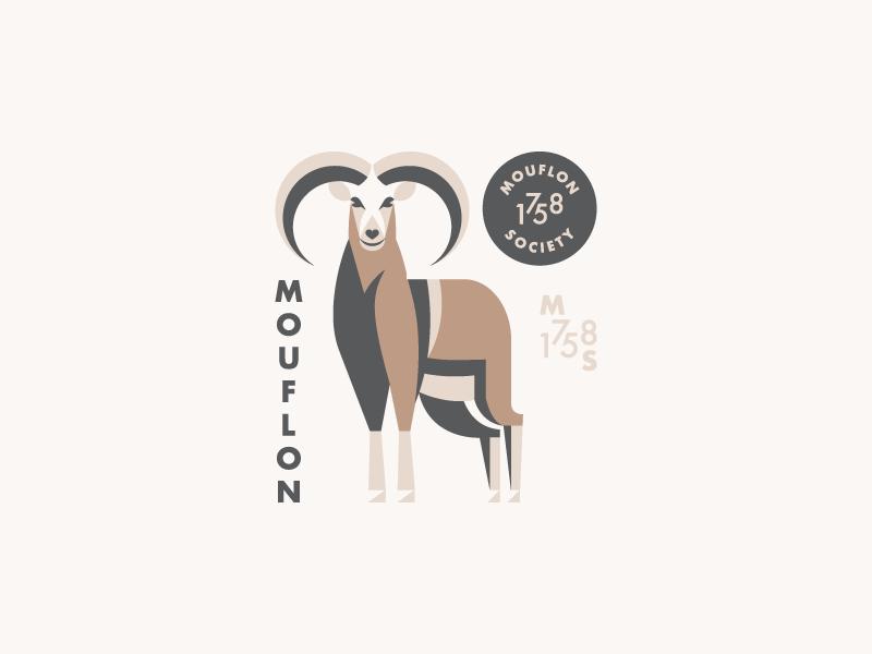 Mouflon Society branding logo illustration