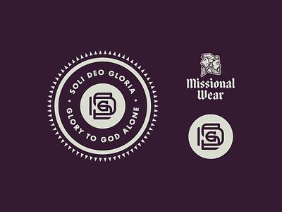 Soli Deo Gloria monogram badge illustration